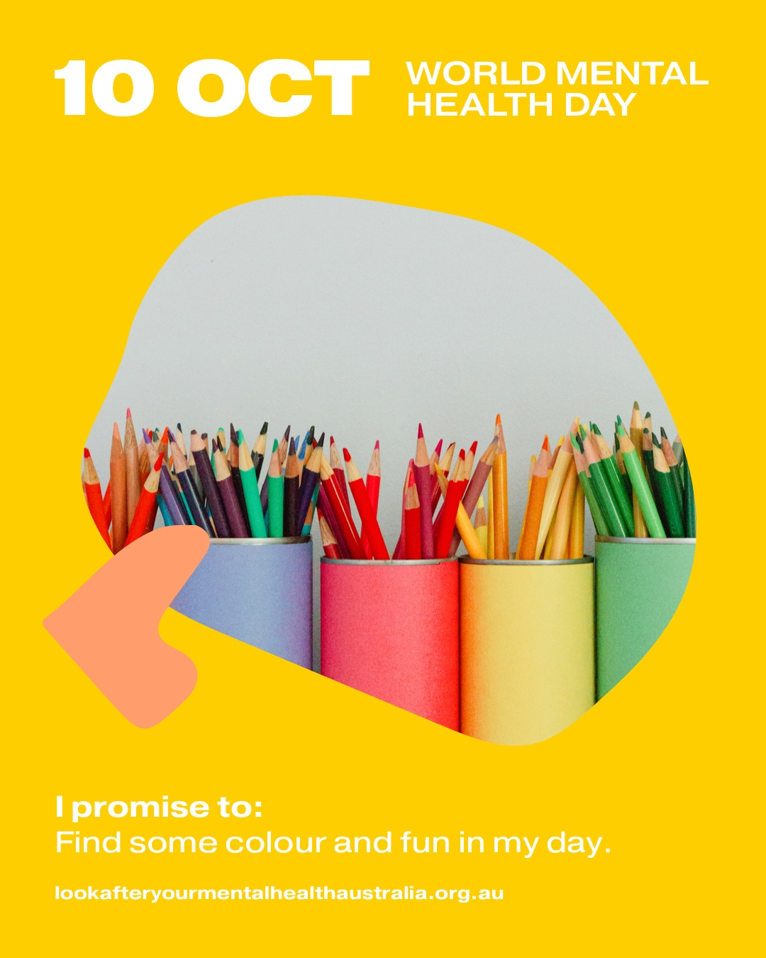 I promise to: Find some colour and fun in my day.