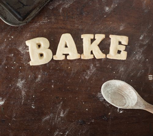 Shortbread Cookie Letters Spelling Out The Word