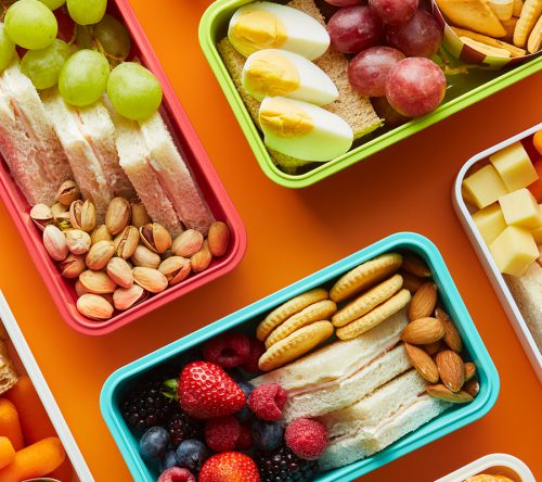 Lunchboxes With Delicious Food.