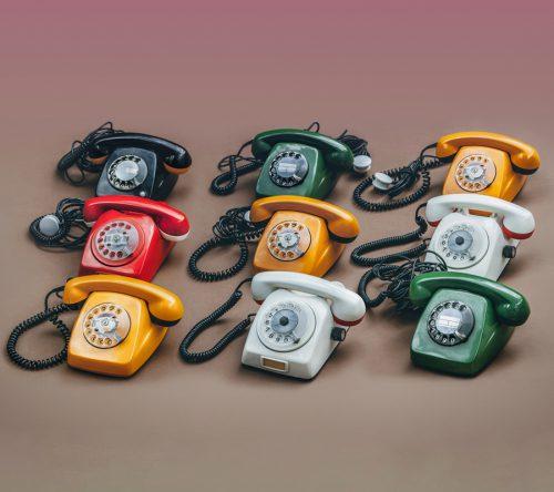 Colourful vintage communication